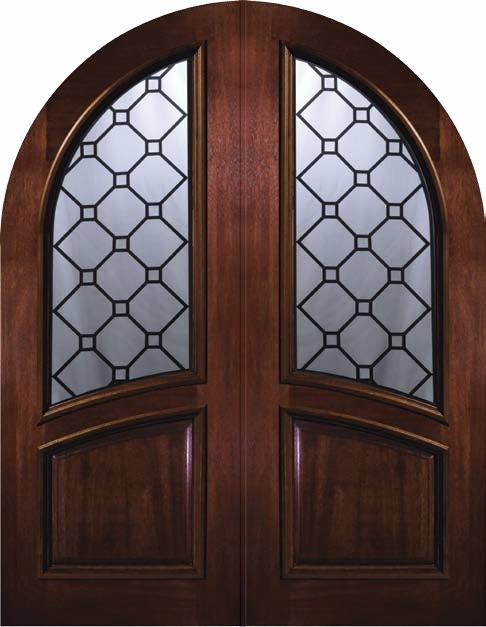 Slab Exterior Double Door 96 Wood Mahogany Casablanca