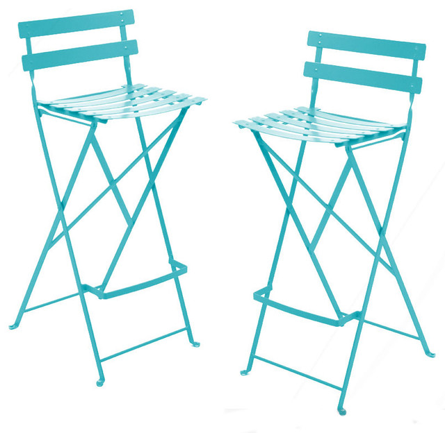 Fermob - French Bistro High Stool modern outdoor stools and benches