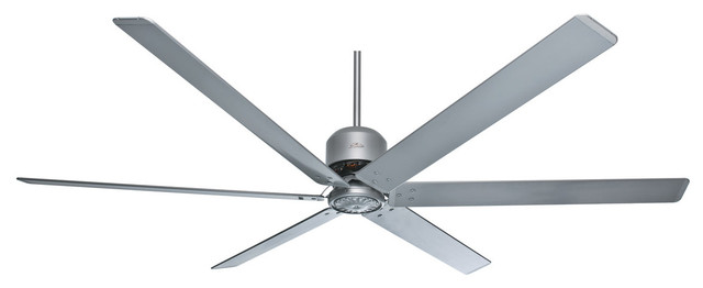 Hunter Fans 96 6 Blade Satin Metal Industrial Ceiling Fan