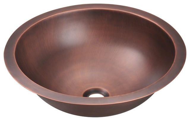 Rustic Bowl Sink : 922 Single Bowl Copper Bathroom Sink - Tropical - Bathroom Sinks ...