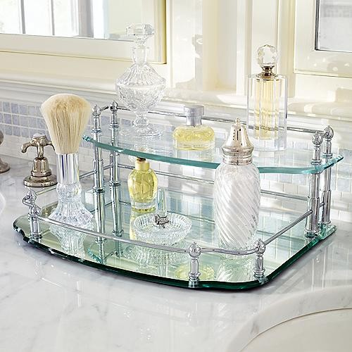 Belmont two tier vanity tray traditional bathroom for Bathroom tray