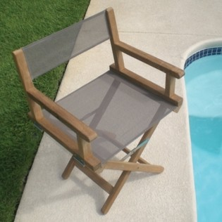 Royal Teak Dirch Director Chair, Taupe - Contemporary - Outdoor Lounge Chairs - by Sears