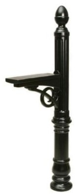 Gibraltar Mailboxes Stratford Decorative Plastic Mailbox Post in Black LVP000B01 contemporary-mailboxes