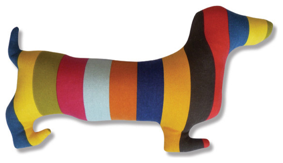 Doxie Silhouette Pillow eclectic pillows