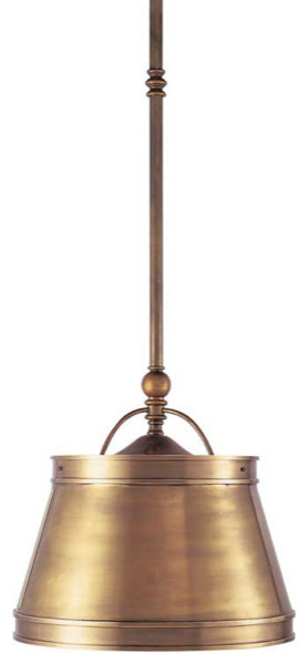 Single Sloane Street Shop Light With Metal Shade traditional-pendant-lighting