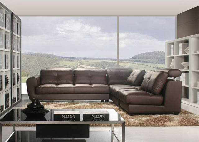 High End Corner Sectional L shape Sofa contemporary sectional sofas orange county