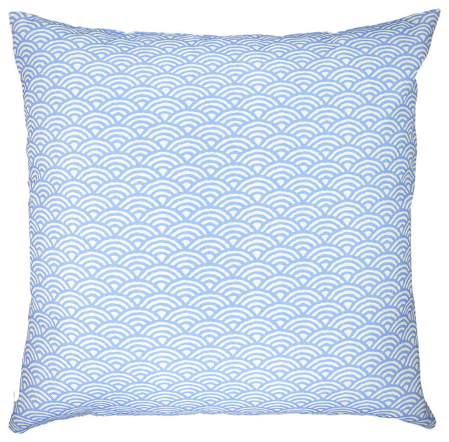 """Woodblock (sky) scales arches graphic throw pillow 20"""" x 20"""" modern-decorative-pillows"""