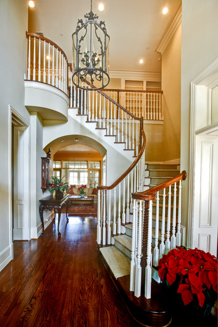 Grand Entry traditional staircase