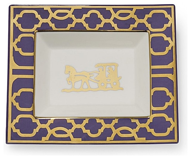 Horse and Buggy Rectangular Plate eclectic-dinner-plates