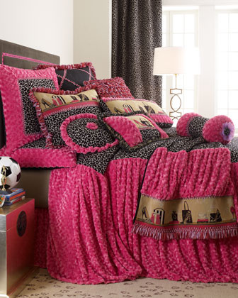 Dian Austin Couture Home Haute Leopard Bed Linens Standard Sham with Ribbon Loop traditional-pillowcases-and-shams