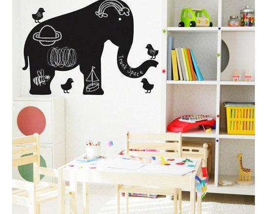 Wallcandy Arts Baby Elephant Chalkboard Decal - Wallcandy Arts Baby Elephant Chalkboard Decal