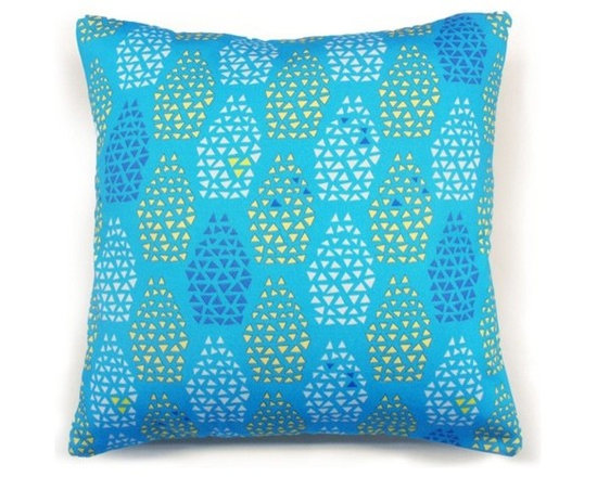 Totem Cushion - Blue -