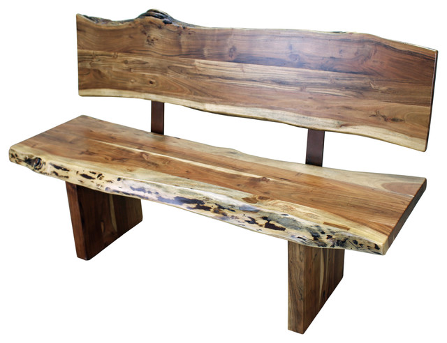Western Wood Bench With Back Rustic Indoor Benches By Tres Amigos Furniture And Accessories
