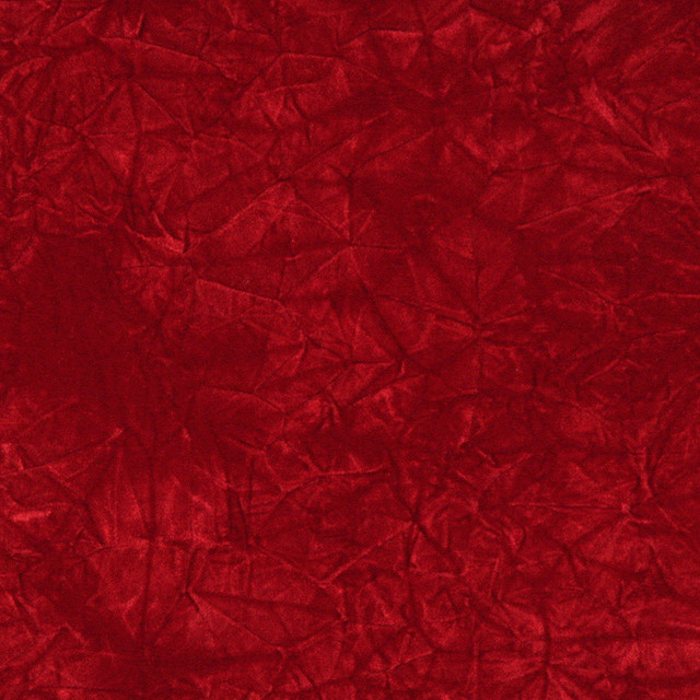 Red Classic Crushed Velvet Upholstery Fabric By The Yard - Contemporary - Upholstery Fabric - by ...