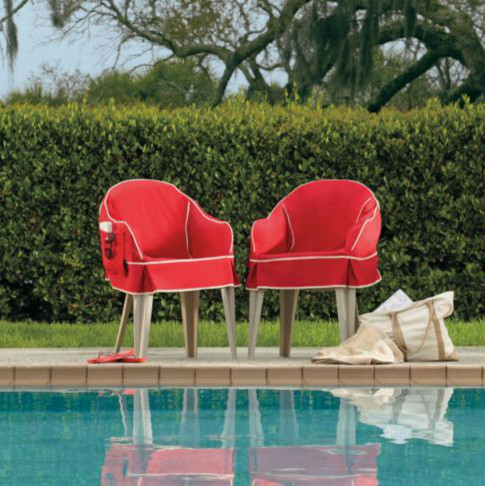 Padded Resin Chair Cover Contemporary Garden Lounge Chairs By Improveme