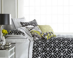 "Black and White ""Trellis"" Bed Linens modern-bedding"