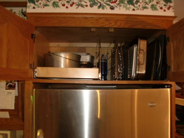 Above Fridge & Oven Pull Out Shelves - Kitchen Drawer Organizers - boston - by ShelfGenie of ...