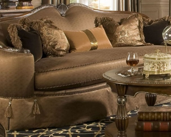 AICO Furniture - The Sovereign Sofa - 57815-GDIVA-51 - Durable construction.