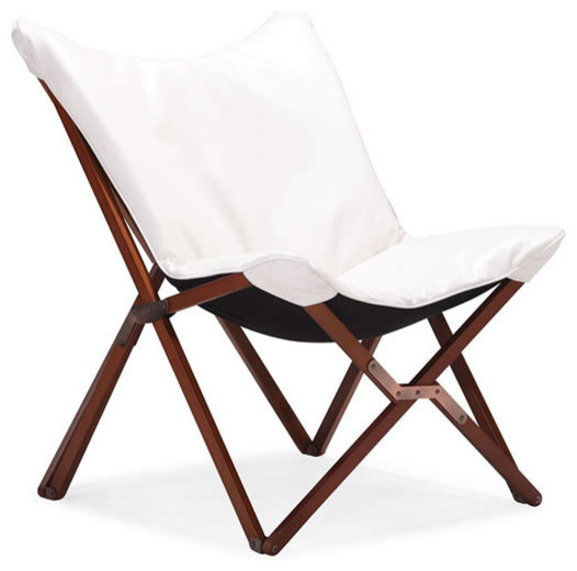 MODERN WHITE FOLDING LOUNGE CHAIR DRAPER Modern Folding Chairs And Stools