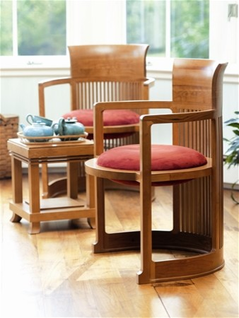 Taliesin Barrel Chair by Frank Lloyd Wright asian armchairs