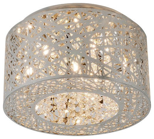 ET2 Inca 7 Light Flush Mount contemporary-ceiling-lighting