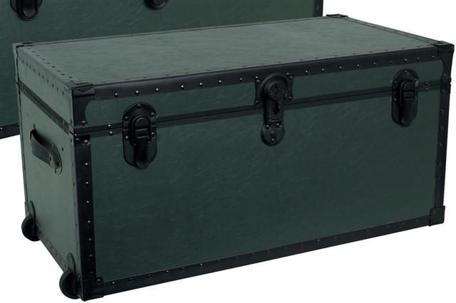Armed Forces The Garrison Oversized Trunk in contemporary-decorative-trunks