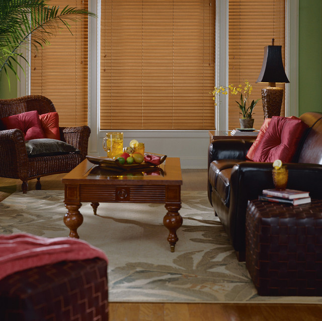 EverWood® alternative wood blinds with Cordlock eclectic-window-blinds