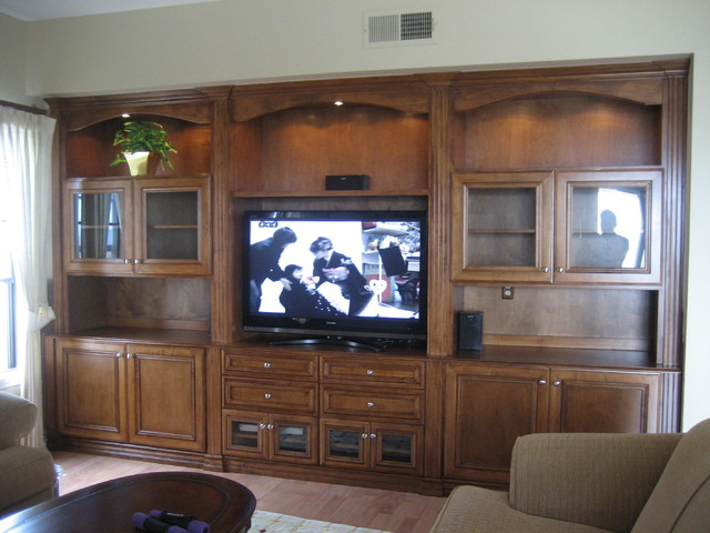 Entertainment Centers and Wall Units traditional-living-room
