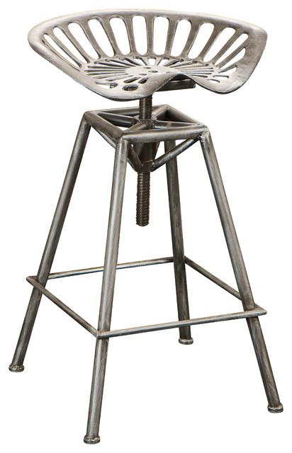 Charlie Metal Tractor Seat Bar Stool Industrial Bar  : industrial bar stools and counter stools from www.houzz.com size 412 x 640 jpeg 57kB