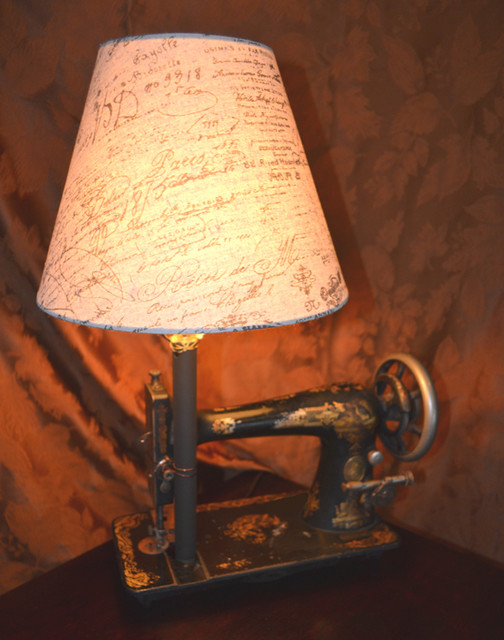 Unique Vintage Sewing Machine Base Table Lamp-FREE SHIPPING - Eclectic - Table Lamps - grand ...