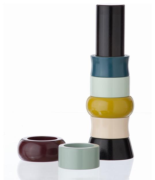 Ferm Living - Tower of Napkin Rings modern-napkin-rings