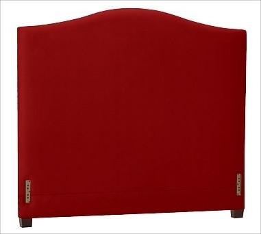 Raleigh Camelback Headboard, King, Twill Sierra Red traditional-headboards