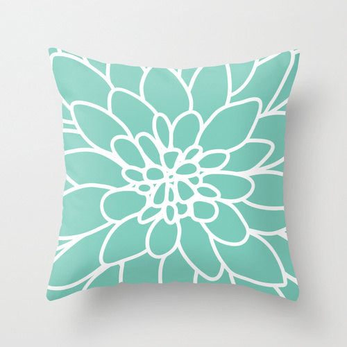 Dahlia Pillow Cover, Mint Green by Aldari Home - Contemporary - Decorative Pillows - by Etsy