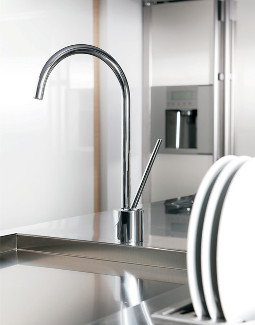 Brushed Nickel Kitchen Faucet - Modern - Kitchen Faucets - by ...