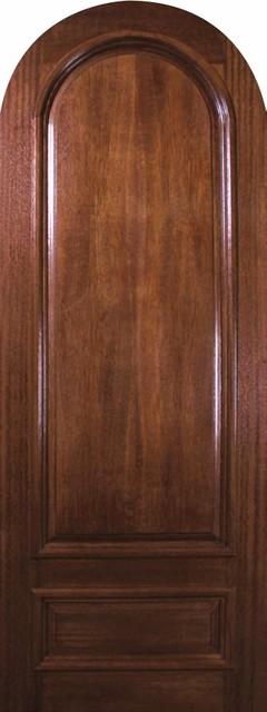 slab home single door 96 mahogany 2 panel round top solid