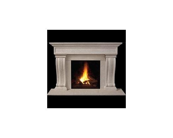 Rowan Stone Fireplace Mantel -