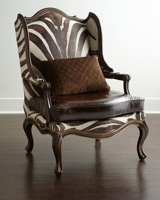 Zena Zebra-Print Chair - BROWN/TAN/ZEBRA - Contemporary - Furniture - by Horchow