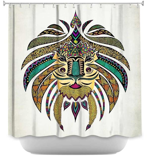 Shower Curtain - Pom Graphic Emporer Tribal Lion I contemporary-shower ...