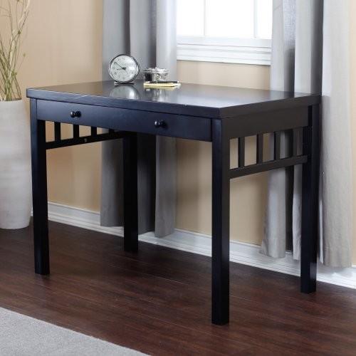 Finley Home Small Mission Writing Desk - Black contemporary-desks