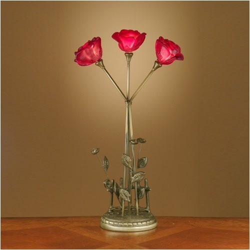 Rose Table Lamp in Antique Brass modern-table-lamps