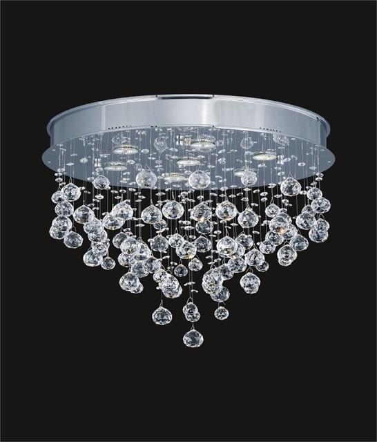 Light Raindrop Chandelier With Crystal Balls