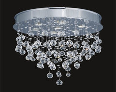 Raindrop Swarovski Crystal Modern Ceiling Mount Chandelier modern ceiling lighting