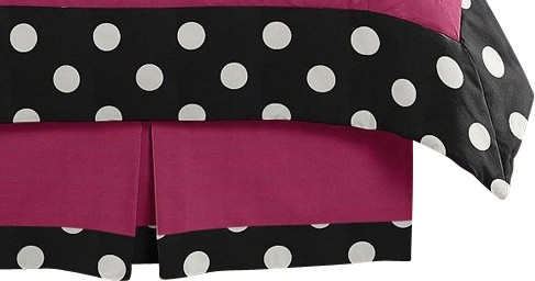 Hot Dot Queen Bed Skirt by Sweet Jojo Designs traditional-kids-bedding