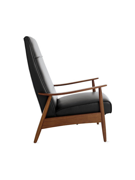 Milo Baughman Recliner 74 in Leather - This is NOT Archie Bunker's recliner. It's the sexiest darn lounger I've ever seen. Designed by Milo Baughman in 1966.
