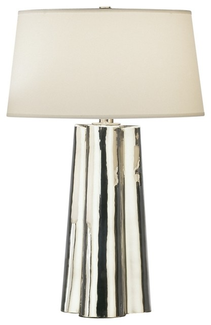 Contemporary Robert Abbey Wavy Collection Mercury Glass Table Lamp ...
