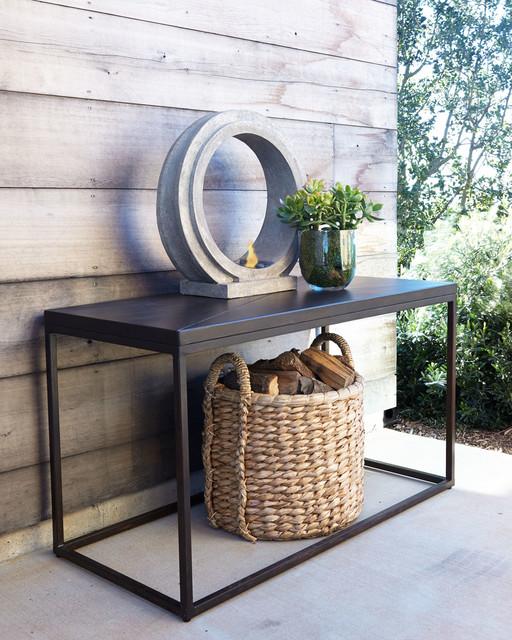 Industrial Renaissance Outdoor Coffee Table: Industrial Renaissance Outdoor Console