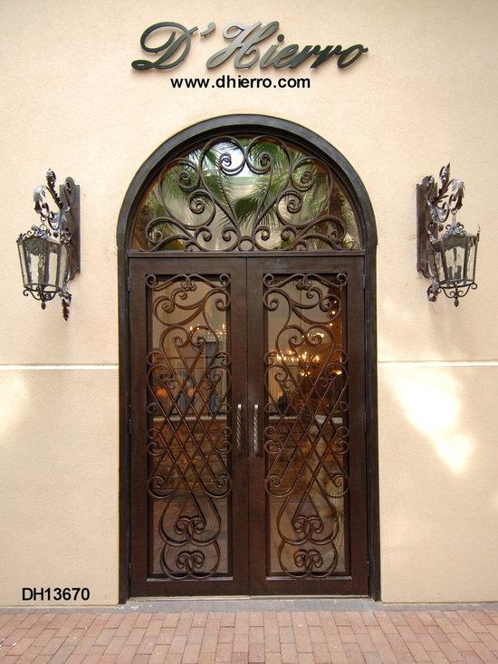 Iron Doors - Exterior - Double Iron Door with Transom