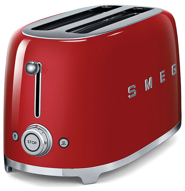smeg 50s style four slice retro toaster traditional toasters. Black Bedroom Furniture Sets. Home Design Ideas