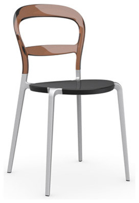 Wien Chair, Transparent Amber, Set of 2 modern-dining-chairs