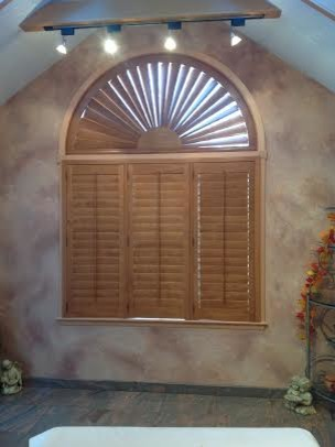 Arch Top Hardwood Shutter Traditional Interior Shutters Other Metro By Homestead Window